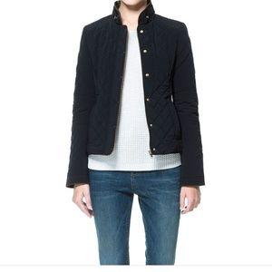 Zara navy quilted jacket xxs/xs